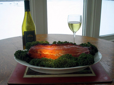 Maple Teriyaki Glazed Smoked Salmon